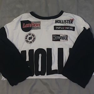 hollister cropped long sleeve shirt
